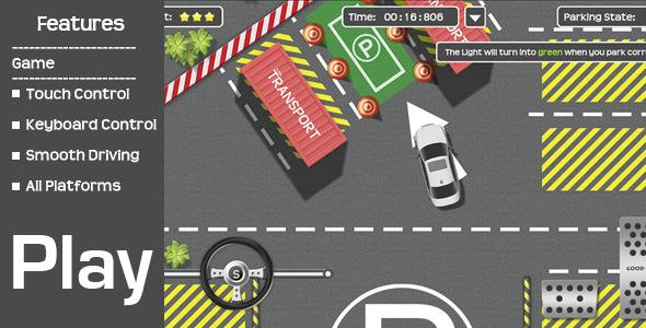 Car parking driving simulation